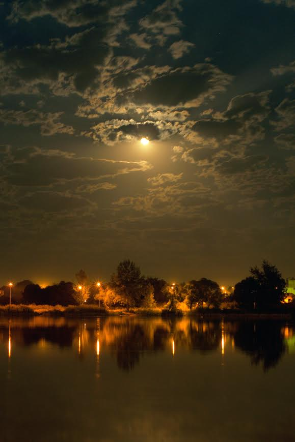 Full moon, Belograd, Russia, by Alex Markovich.