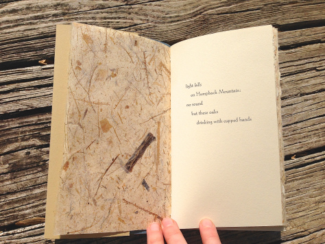 One of 33 haiku by Emily Hancock, collected here for the first time.